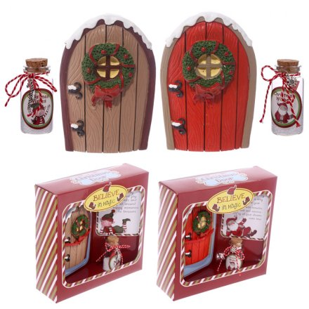 2 assorted believe in Magic Mini Elf Door