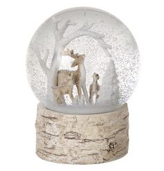 woodland themed snowglobe.