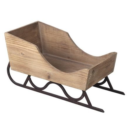 Large Wooden Sleigh Decoration