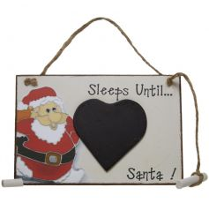 Cute little count down chalkboard with santa, perfect for getting into the spirit of christmas
