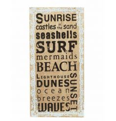 Beach themed plaque