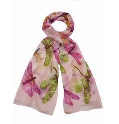 A mix of 3 colourful dragonfly design scarves with a touch of glitter.