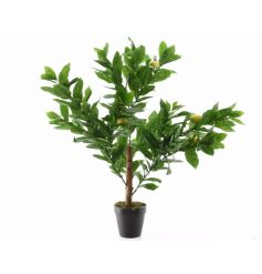 A realistic artificial lemon tree with brightly coloured lemons. Ideal for adding a fresh touch to your home.