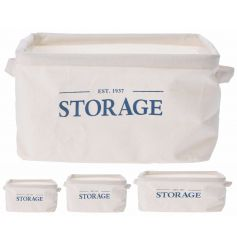 A set of 3 storage baskets with a stylish slogan. Ideal for keeping the home and office tidy!