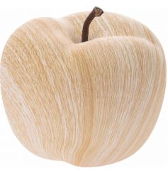 A large fine quality decorative apple with a wood effect finish.