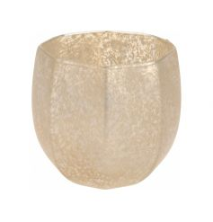 Gold Glass Tealight Holder 11cm