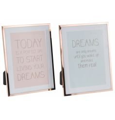 simplistic copper edged picture frames