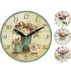 Floral Design Wall Clock Mix