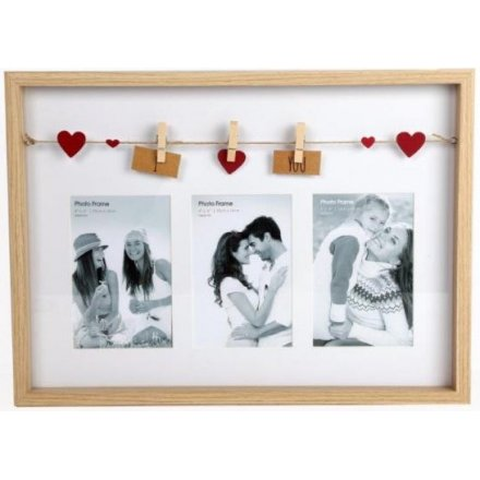 PH2106 / I Love You Triple Frame | 31270 | Photo Frames & Holders ...