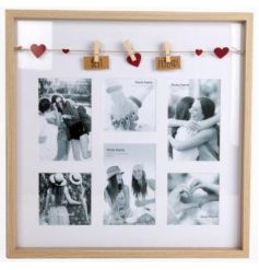 Showcase your favourite memories with this stylish photo frame with a peg garland.