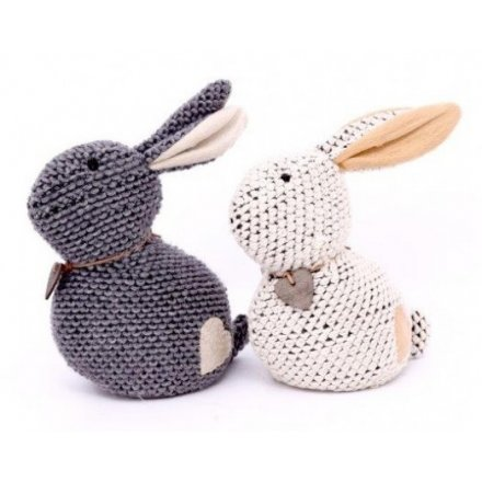 Knitted Bunny Doorstops, 2a