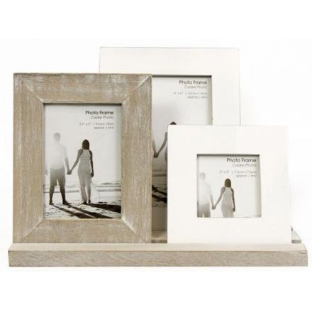 Rustic Picture Frames on a Tray