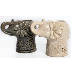 A mix of 2 attractive elephant oil burners. Perfect for your seasonal home fragrances.