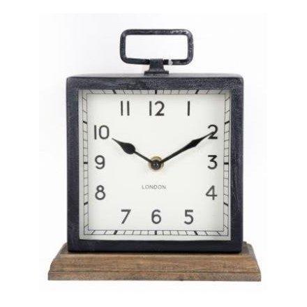 Wooden Based Metal Clock