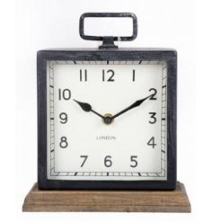 Olden styled metal clock