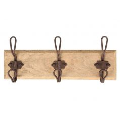 Keep tidy and organised with this rustic style coat hook.