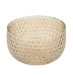 A honeycomb inspired glass t-light holder/decorative pot. The perfect way to add a touch of classic luxury to your home.