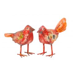 Colourful and quirky decorative bird figures filled with rustic charm.
