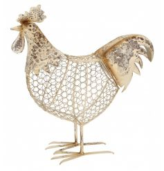 Store you eggs in this shabby chic style chicken ornament with storage facility.