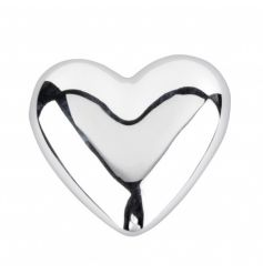 A pretty silver heart ornament. A lovely keepsake item, decoration and gift.