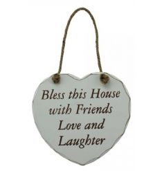 House Love Laughter Plaque
