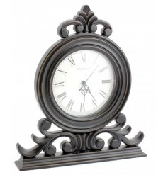 Wooden Black Mantel Clock 32cm