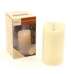 this cream LED candle brings bring a warm glow to any room