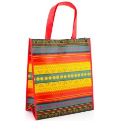 Funky multicoloured african themed shopper bag