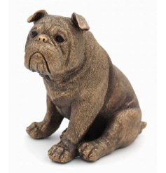 Bronzed effect dog figurine by Leonardo, gift boxed
