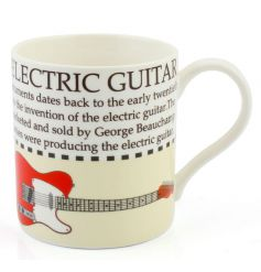This electric guitar fact mug with illustration makes a great gift for music lovers!