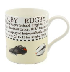 This rugby fact mug with colour illustration makes a great gift for lovers of the sport.