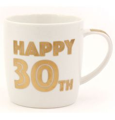 A bold 30th Birthday mug with gift box. A great gift idea and keepsake.