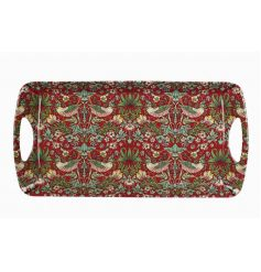 A beautifully patterned medium sized tray in the popular strawberry thief design.