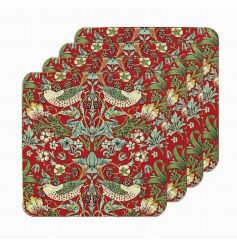 A set of 4 coasters in the popular strawberry thief design.