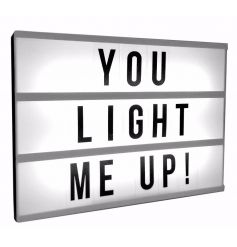 Create your own personalised signs with this on trend light box! A must have this season!