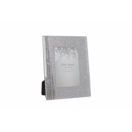 GW1469 / Silver Glitter Photo Frame | 31923 | Photo Frames & Holders ...