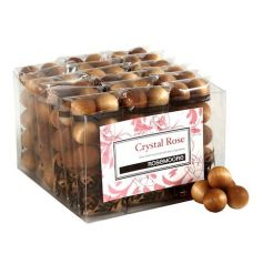A pack of 10 contemporary wooden balls with the beautiful crystal rose scent.