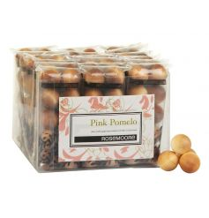 Contemporary birch wood balls infused with a refreshing pink pomelo fragrance.