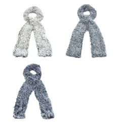 A mix of 3 cosy scarves in winter tones. A stylish accessory and great gift item.