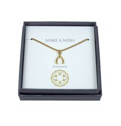 A fine quality gold plated necklace with gift box. A lovely gift item for many occasions.