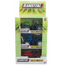 Have fun on the farm with this assortment of tractors with diggers from the teamsterz range.