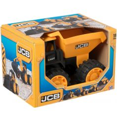 A JCB dump truck toy. A fun toy for adventures.