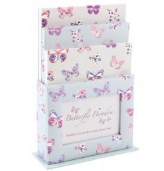 A pretty organiser gift set with photo frame storage pot, journal and memo pads.