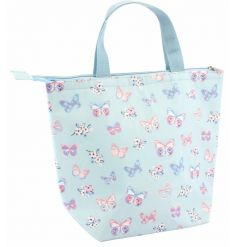 A stylish lunch bag with the pretty butterfly paradise design.