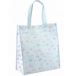 A stylish and practical shopping bag with a pretty butterfly paradise design.
