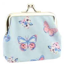 A pretty coin purse with clasp in the popular butterfly paradise design by Jennifer Rose.