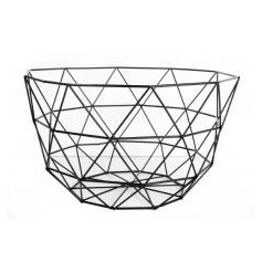 Keep on trend this season with this large, black geometric storage basket.