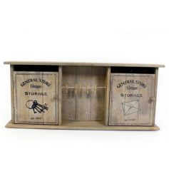 A rustic style wooden storage unit with peg garland. From the popular General Store range.