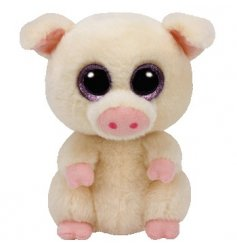 An adorable pink pig Beanie Boo toy. Soft to touch for little hands to play with and enjoy.