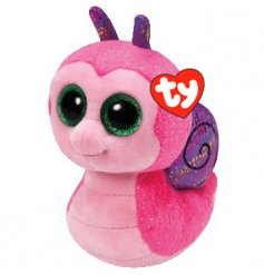 An adorable pink Scooter Snail beanie boo toy. Soft to touch and perfect for little hands to enjoy.